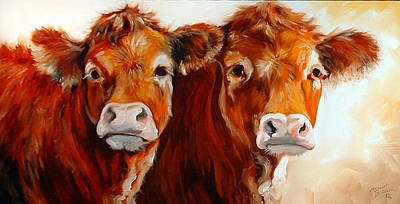 Cow Cow Print by Marcia Baldwin
