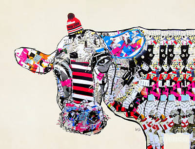 Cows Mixed Media - Cow In New York by Bri B