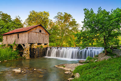 Grist Mill Photograph - Cowans Mill Summer Evening by Anthony Heflin
