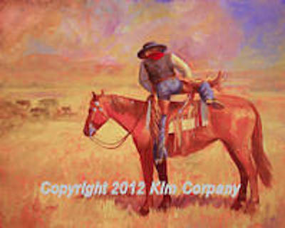Cow Painting - Cowboy Ballet     by Kim Corpany
