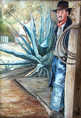 Cowboy Painting - Cowboy by CJ  Rider