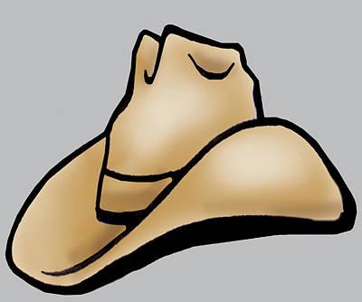 Cowboy Digital Art - Cowboy Hat by Kevin Middleton