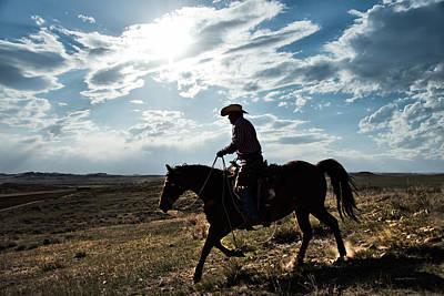 The Cowboy Photograph - Cowboy Montana by Leland D Howard