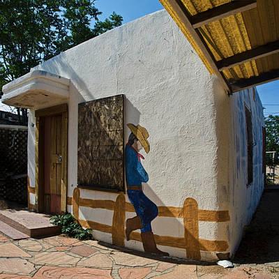 Rustic Photograph - Cowboy Mural In Benson Arizona by Dave Dilli