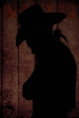 Cowboy Silhouette Profile  Original by Toppart Sweden