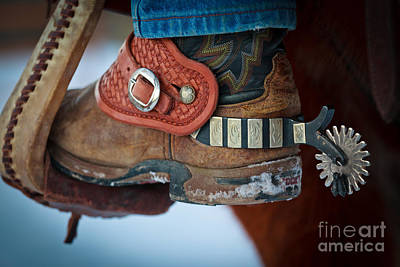 Cowboy Spurs Print by Inge Johnsson