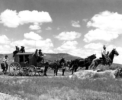 Cowboy Wagon Ride Print by Retro Images Archive