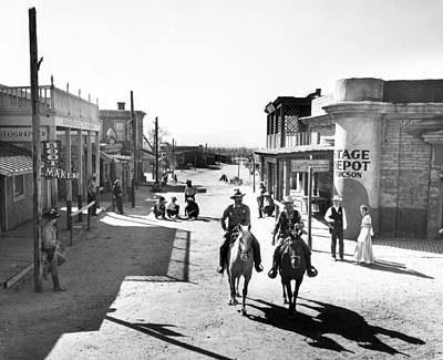 Old West Photograph - Cowboys Come Into Town by Retro Images Archive