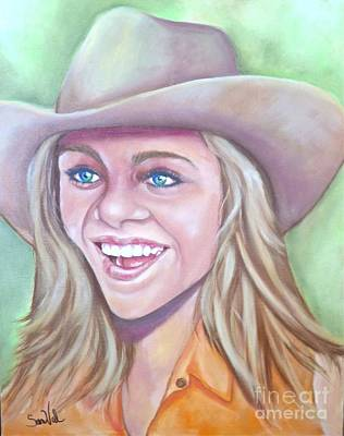 Pretty Cowgirl Painting - Cowboys Dream by Sandra Valentini