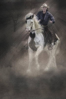 Horse Photograph - Cowgirl And Knight by Susan Candelario
