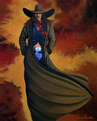 New West Painting - Cowgirl Dust by Lance Headlee