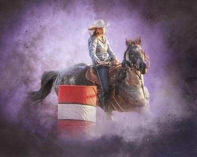 Cowgirls Dream Print by Ron  McGinnis