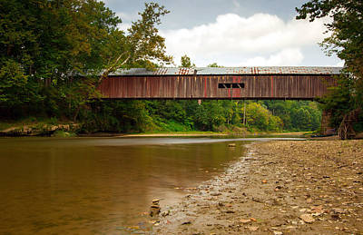 Indiana Landscapes Photograph - Cox Covered Bridge by Jackie Novak