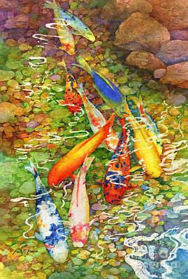 Water Garden Painting - Coy Koi by Hailey E Herrera