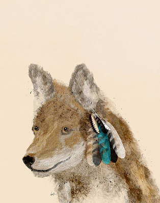 Colorfull Painting - Coyote by Bri B