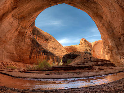 Sheer Photograph - Coyote Gulch Alcove by Leland D Howard