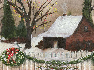 Cozy Cottage Print by Cheryl Young