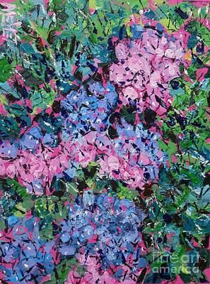 Fauvism Painting - Cozy Hydrangeas by Larry Lerew