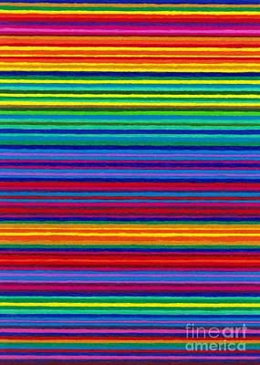 Abstract Pop Drawing - Cp038 Tapestry Stripes by David K Small