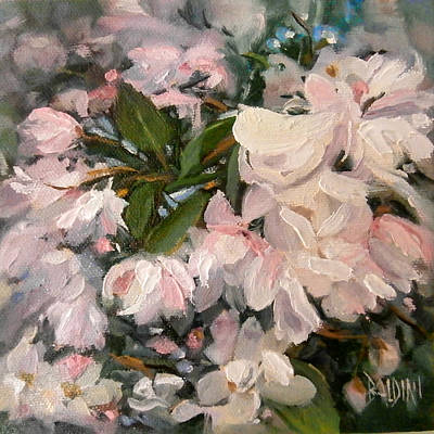 Painting - Crab Apple Blossoms by J R Baldini
