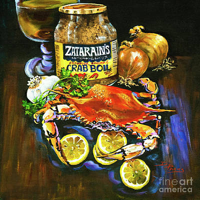 Garlic Painting - Crab Fixin's by Dianne Parks