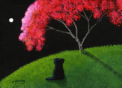 Newfie Painting - Crabapple Tree by Todd Young