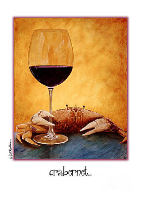 Cabernet Wine Painting - Crabernet... by Will Bullas