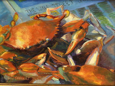 Lowcountry Painting - Crabilicious by John Albrecht