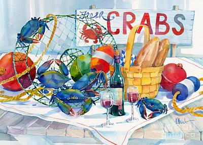Meal Painting - Crabs Galore by Paul Brent