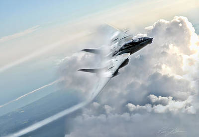 Us Navy Digital Art - Crack The Sky by Peter Chilelli