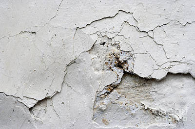 Weatherworn Photograph - Cracked Stucco - Grunge Background by Michal Boubin