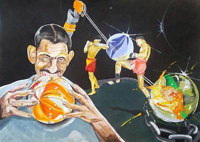Cracking Marvels Cascando Canicas Print by Lazaro Hurtado