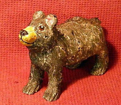 Sculpture - Crackle Bear by Debbie Limoli