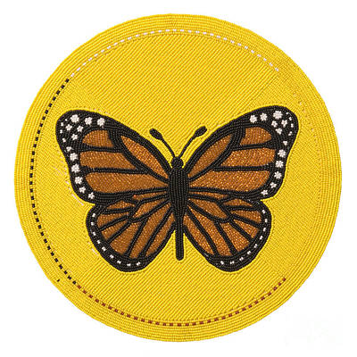 Cradleboard Beadwork Spring Butterfly Print by Douglas K Limon