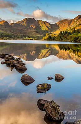 North Wales Digital Art - Crafnant Rocks by Adrian Evans
