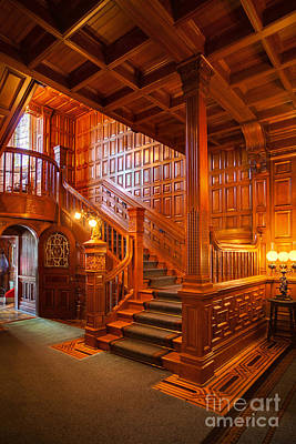 Craigdarroch Castle Entry Print by Mike Reid