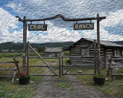 Log Cabin Photograph - Crail Ranch by Heather MacKenzie