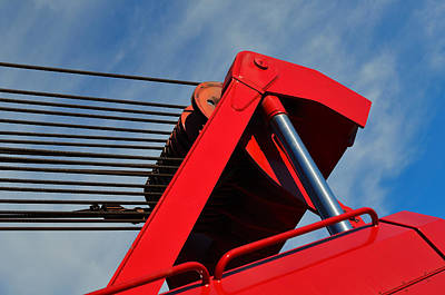 Machinery Painting - Crane - Photography By William Patrick And Sharon Cummings by Sharon Cummings