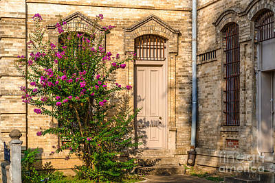 Shiner Photograph - Crape Myrtle And Gonzales County Jail Museum by Silvio Ligutti