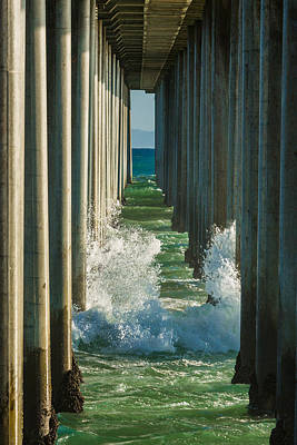 Turquois Water Photograph - Crash by Scott Campbell