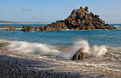 Crashing Of The Waves Print by Athena Mckinzie