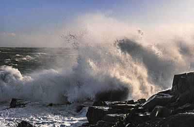 Quoddy Photograph - Crashing Surf by Marty Saccone