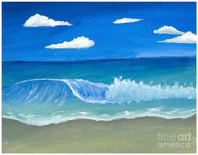 Water Painting - Crashing Wave by Koy  Connors