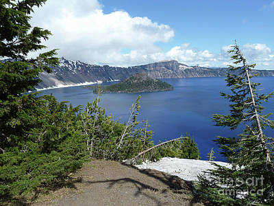 Crater Digital Art - Crater Lake 1 by Methune Hively