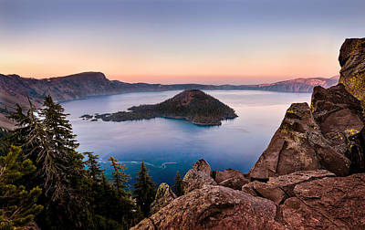Crater Lake National Park Print by Alexis Birkill