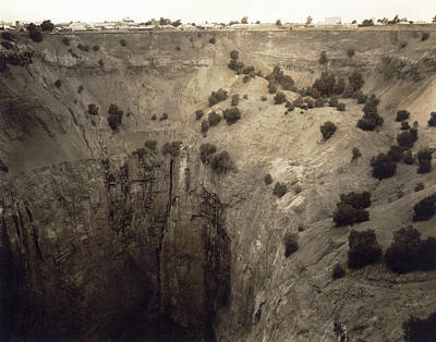 Crater Of Fortune Diamond Mine Print by Underwood Archives