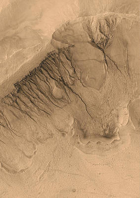 Crater On Mars Print by Anonymous