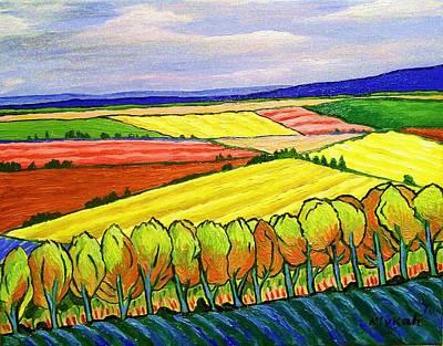 Crau Fields Print by Rivkah Singh