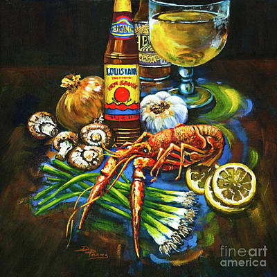 Mushroom Painting - Crawfish Fixin's by Dianne Parks