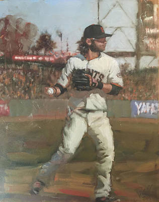 Baseball Painting - Crawford Day Game by Darren Kerr